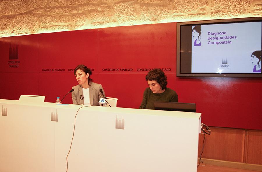Presentación da diagnose en rolda de prensa, Concello de Santiago