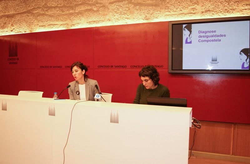 Presentación de el diagnóstico en rueda de prensa, Concello de Santiago